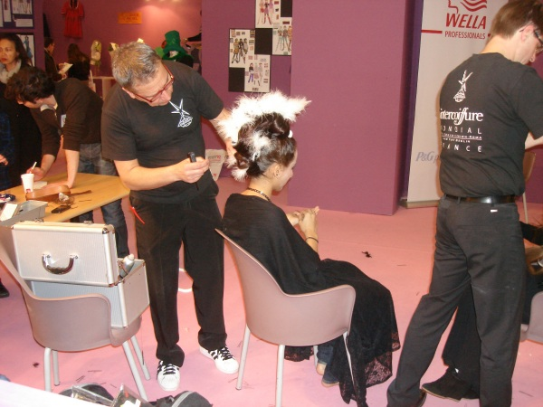 Show off extravagent hair do to talk about hairdressing.